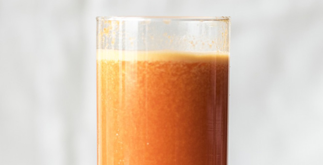 Zimní smoothie s mandarinkami