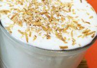 Náhled vanilkového smoothie s ořechy
